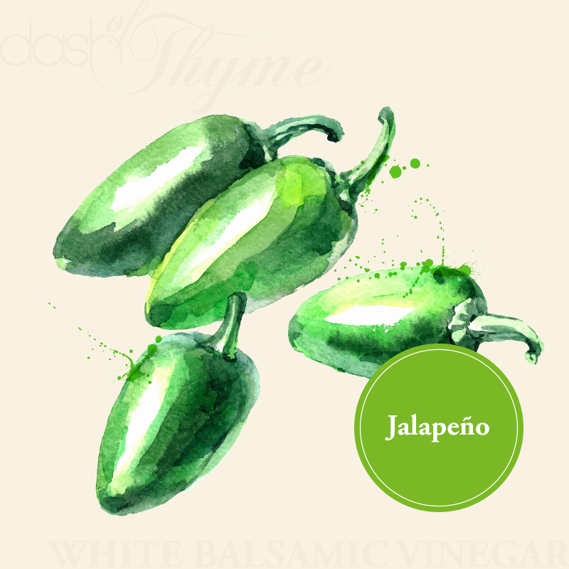 Dash of Thyme—Jalapeno White Balsamic Vinegar Condimento