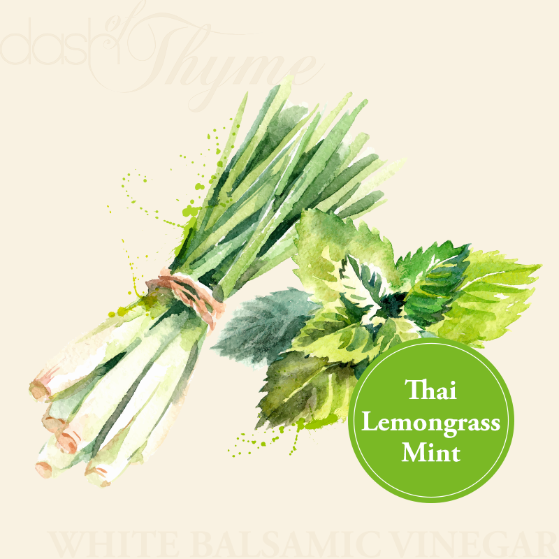 Dash of Thyme—Thai Lemongrass Mint White Balsamic Vinegar Condimento