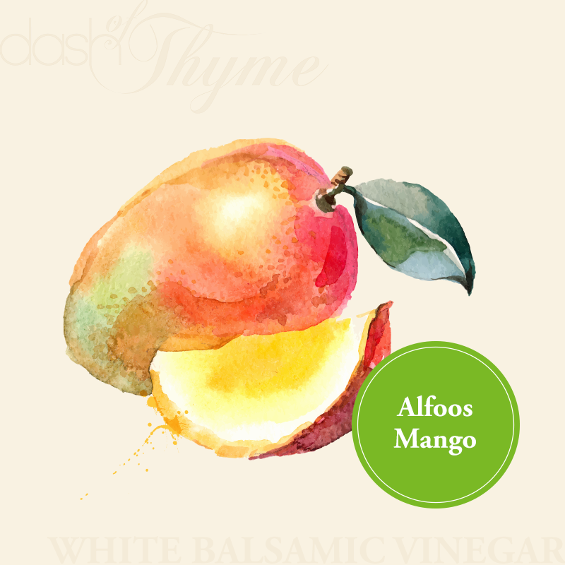 Dash of Thyme—Alfoos Mango White Balsamic Vinegar