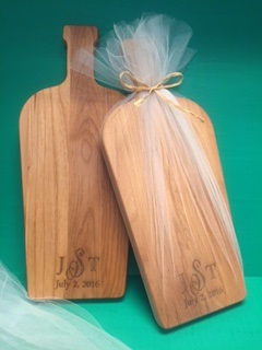 Cutting Board Wedding Favor - Dash of Thyme in Denville, NJ
