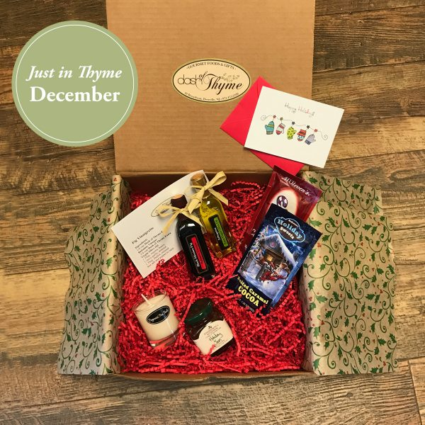 December Just in Thyme Box, Dash of Thyme Gourmet Food & Gifts in Denville, NJ