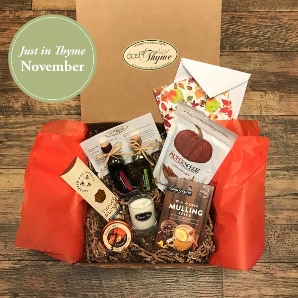 November Just in Thyme Box, Dash of Thyme Gourmet Food & Gifts in Denville, NJ