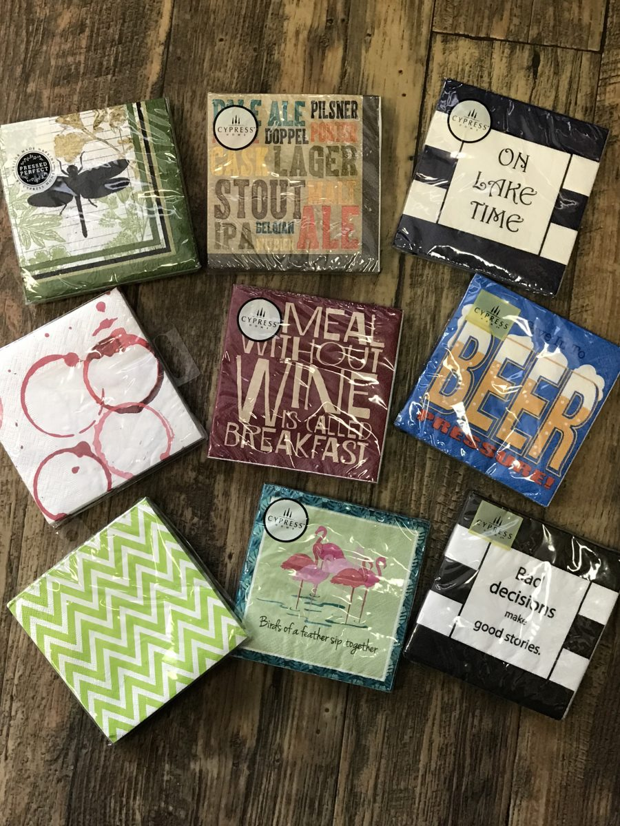 Fun Cocktail Napkins—Dash of Thyme Denville, NJ