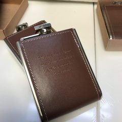 Embossed Leather Pocket Flasks